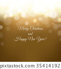 Christmas Card Gold 35414192