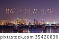 Happy new year firework with Pattaya cityscape  35420830
