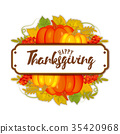 Watercolor design style Happy Thanksgiving Day 35420968