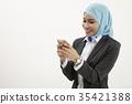 malay business woman talking 35421388