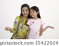 mother and daughter smiling 35422024