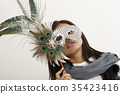 woman with mask 35423416