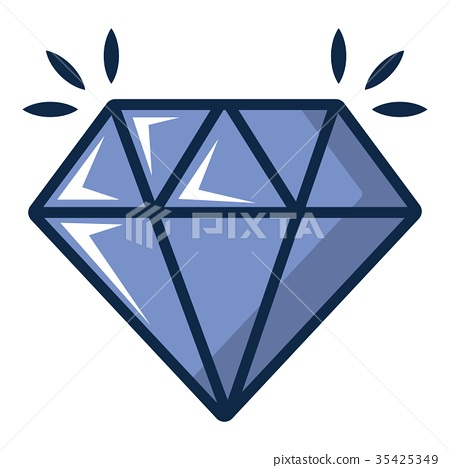 Crystal icon, cartoon style 35425349