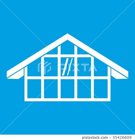 Warehouse icon white 35426609