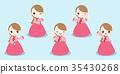 cartoon korea girl 35430268
