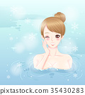 woman with hot spring 35430283