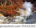 Noboribetsu Onsen ・ Jigokudani and colored leaves (2) 35432262