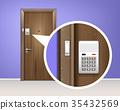 door, vector, realistic 35432569