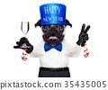 happy new year dog 35435005