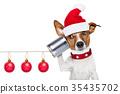 dog on the phone 35435702