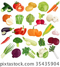 Vegetables Icons Set 35435904