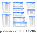 Food Containers Realistic Icon Set 35435907
