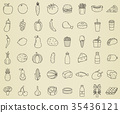 food, icon, set 35436121