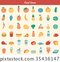 food, icon, fast 35436147