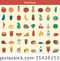 food, icon, fast 35436153