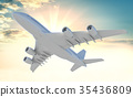 Commercial passenger airplane 35436809
