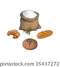 向量 向量圖 法棍麵包 35437272
