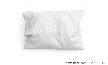 3D rendering pillow isolated on white background 35438015