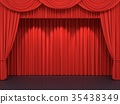 Red stage curtains 35438349