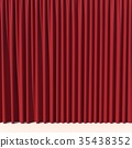 Red stage curtain 35438352