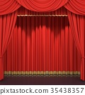 Red stage curtains 35438357