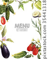 Watercolor menu template 35441318