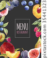 watercolor menu template 35441323