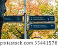 德國 秋天的柏林 路標 35441576
