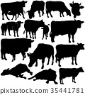 Cow Silhouettes Collection 35441781