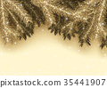 Christmas Background Gold 35441907