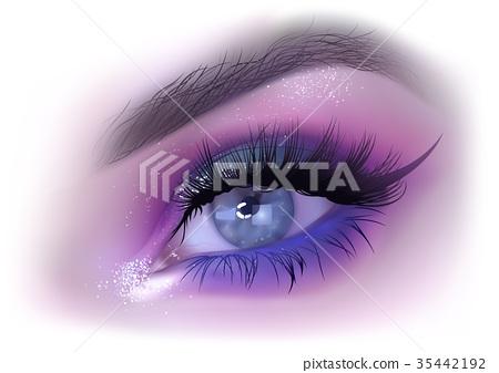 Fashion Woman Eye Makeup 35442192