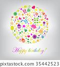慶生 生日 卡 35442523