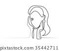 portrait vector woman 35442711