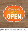 Vintage Orange Open Sign 35442923