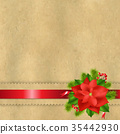 Vintage Paper With Divider And Poinsettia 35442930