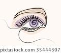 eye, vector, eyebrow 35444307