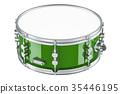 Green drum, 3D rendering 35446195