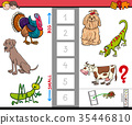 big and small animals game for children 35446810