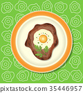 egg vector meat 35446957