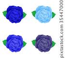 rose vector blue 35447000