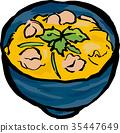 oyako-don, bowl, food 35447649
