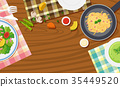 Background design with food on table 35449520