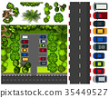 Car park with many cars 35449527