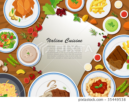 Poster design with italian cuisine 35449538