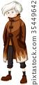 Man wearing brown overcoat 35449642
