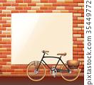 Blank board on brickwall 35449772