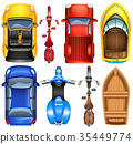 Top view of different transportations 35449774