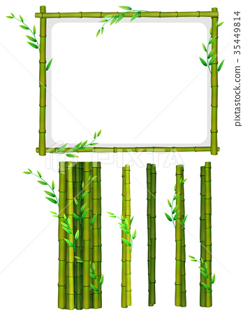Green bamboo frame and sticks 35449814