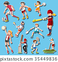 People doing different types of sports 35449836
