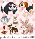 animal cute sticker 35449980